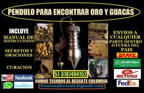 PENDULO GUAQUERO DETECTOR DE ORO