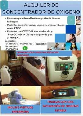 Alquiler y venta generadores de oxigeno medicinal-Pasco