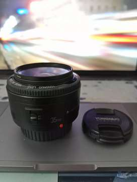 Lente 35mm Yongnuo para Canon