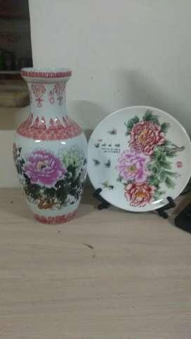Vendo o cambio Jarrón chino antiguo perfecto estado trae decoración