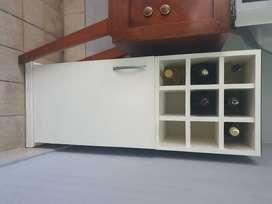 Vinoteca mueble organizador - belgrano