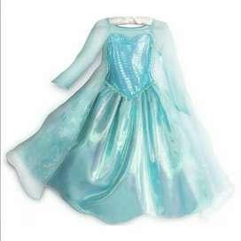 Disfraz Elsa Frozen Autentico Tienda Disney Store Talla 9-10 NUEVO