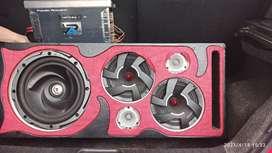 Se vende sonido para carro con planta de 1600 watts