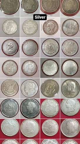 Monedas de plata antigua