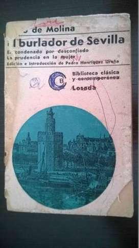 Libro El Burlador De Sevilla, Tirso De Molina, 1966