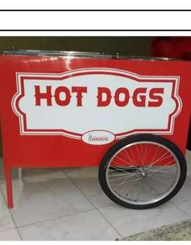 Hermoso carro de perros negociables