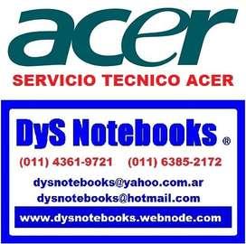 ACER SERVICIO TECNICO NOTEBOOK Y NETBOOK
