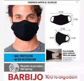 Barbijo negro Unisex