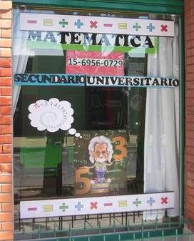 CLASES DE MATEMÁTICA TODOS LOS NIVELES Y CBC RAMOS MEJÍA