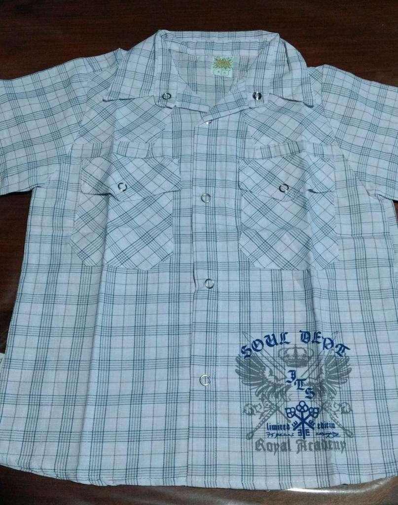 Camisas nenes mangas cortas 0
