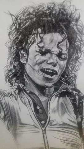 Pintura original Omar Gordillo, homenaja a Michael Jackson