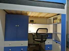 Camarote 1.5 plazas con escritorio