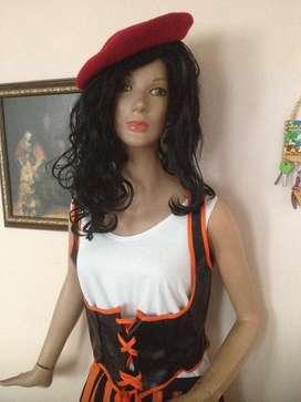 Disfraz de Rebel Girl Talla S