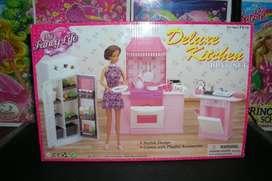 l Barbie, Gloria, Muñecas, Juego De Cocina.