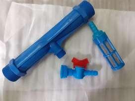 tubo Venturi  1 1/2 Pulgadas cultivo inyector de fertilizante Riego
