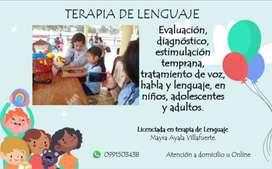 TERAPIA DE LENGUAJE