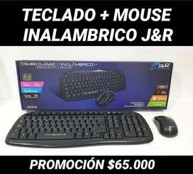 COMBO TECLADO + MOUSE INALAMBRICOS