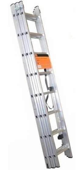 Escalera Extension Aluminio 18 Pasos 136kg Trabajo Pesado