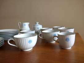 Juego Té / Café Porcelana Tsuji Logo Volkswagen Incompl. Rep