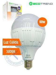 FOCO LED, 60W, 3000K, LUZ CÁLIDA, COD HU222511
