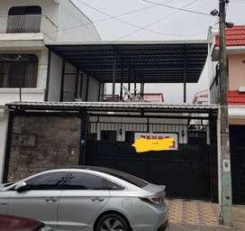 Garzota 1. Casa de 1 planta con loza y estructura para 2do piso mas suite independiente en el patio.