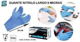 Guantes de nitrilo largo de 9 micras