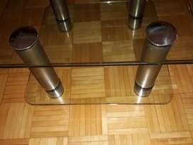 Mesa ratonera vidrio doble