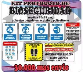 Señalización bio seguridad