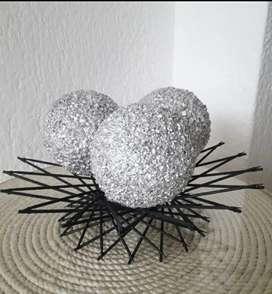 Esferas decorativas artesanales