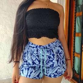 Pantalonetas Playeras Bermudas Shorts  mujer Dama Impermeables antifluido