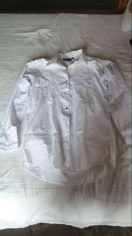 blusa blanca para dama talla m marca pronto