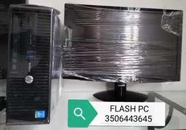 Oferta hp core i3 de 2 generación ghz 3.60 ram con monitor 19 teclado mauso garantía