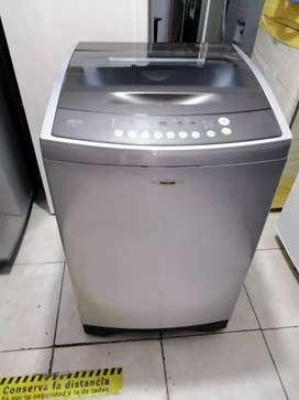 Lavadora 26 libras moderna haceb, digital tapa de vidrio