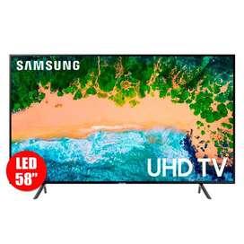 "Televisor Samsung 58"" Tv nu7100"