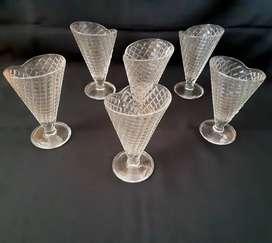Copas en vidrio estilo vintage