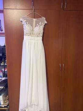 Vestido blanco de novia o graduacion