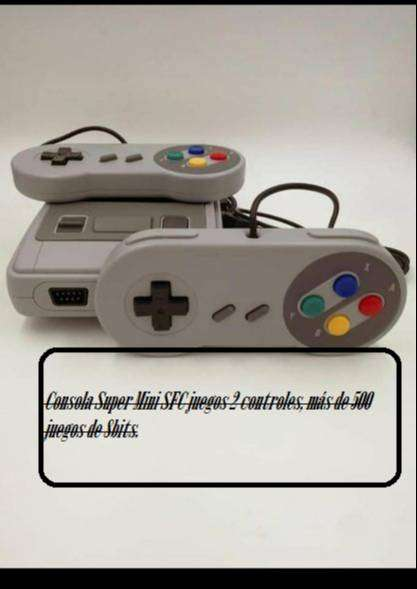 Consola Super Mini SFC juegos 2 controles, más de 500 juegos de 8bits.