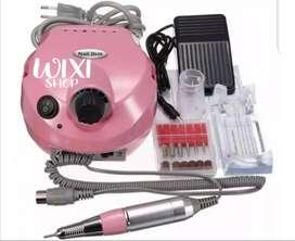 Kit Pulidor Uñas Electrico Profesional Nail Master + Pedal Lijas.
