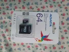 Tarjeta micro SD Adata clase 10, 64gb original