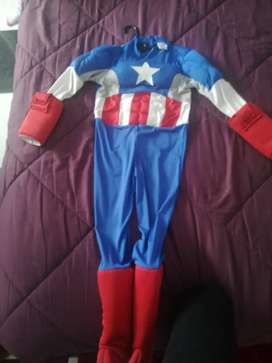 Traje Capitán América Talla 8