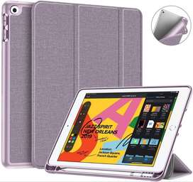 Trifolio Smart Case Fintie Para iPad 10.2 7gen 2019 Con Porta Lápiz Lila