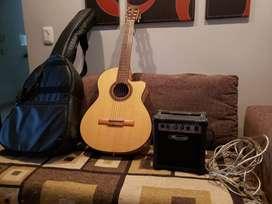 Guitarra Fonseca+Funda+Amplificador Leem+Cable
