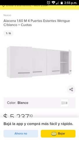 Vendo alacena de 1,40 blanca (4 puertas)