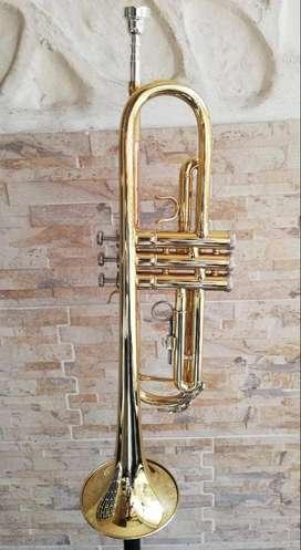 Trompeta Conductor Dorada con estuche