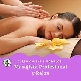 Curso Online de Masajista Profesional y Relax en Centro Médico Escuela