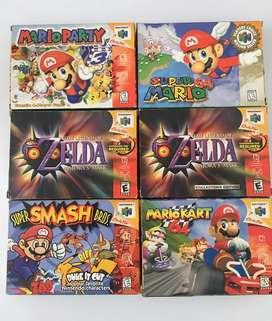 Juegos de Nintendo 64 en Caja!! 100% Originales