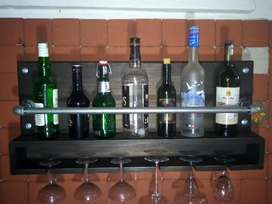 porta botellas hermoso y porta copas