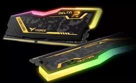Memoria Ram DDR4 T-Force Delta R 3200Mhz Edición Tuf Gaming