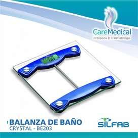 Balanza de Baño Crystal - BE203 SILFAB  - Ortopedia Care Medical
