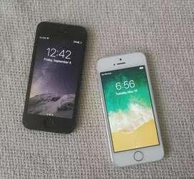 Iphone 5 (negro) y iphone 5s (blanco)